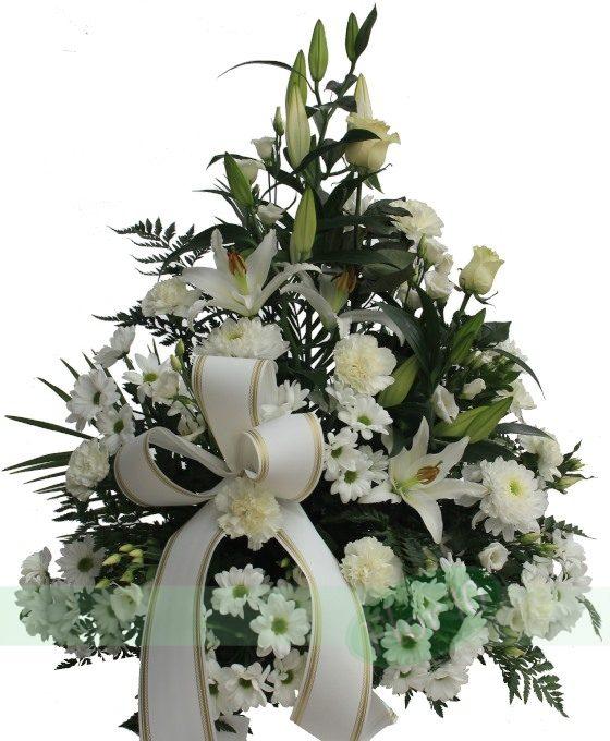 Centro Funerario Blanco Regalar Flores Flores Para Regalo Flor 10