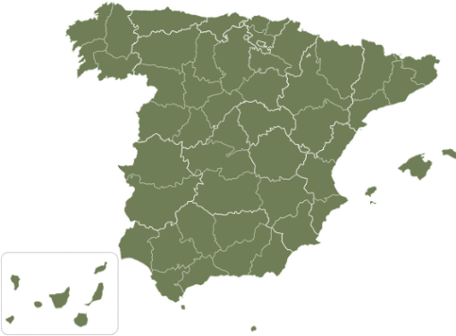 Mapa envíos nacionales
