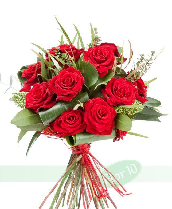 ramo de rosas en floristerías en Madrid para ocasiones especiales, San Valentín, Día de la madre, etc.