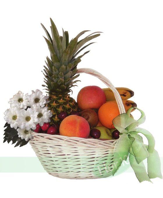 Cesta De Frutas Y Margaritas Regalar Flores Flores Para Regalo Flor 10