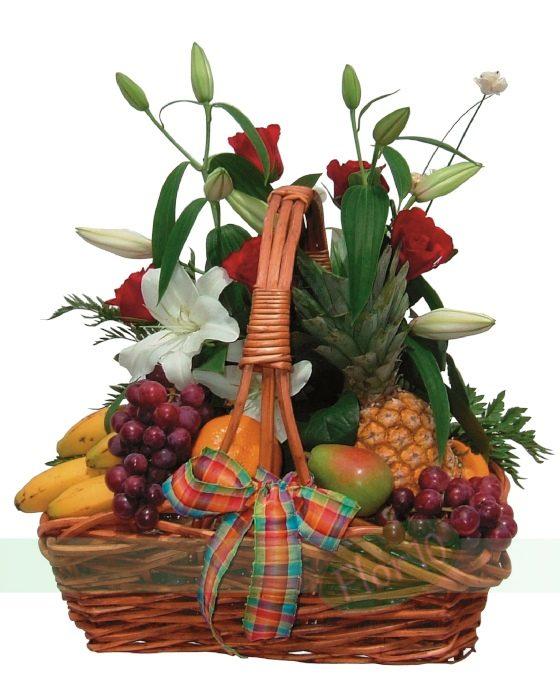 Cesta De Frutas Y Rosas Regalar Flores Flores Para Regalo Flor 10