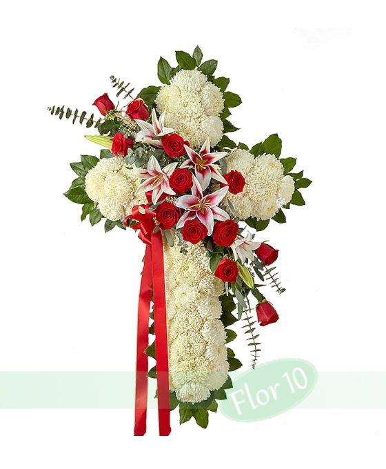 Flores para funeral, Corazones de funeral, Cruces para funeral, Flores para difuntos, flores funerarias, flores funeral, flores condolencias, Tanatorio Vitoria