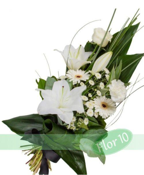 ramo funerario rosas gerberas lilium