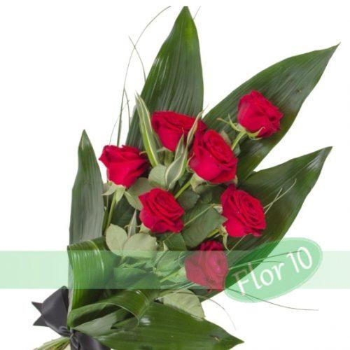 ramo funerario rosas rojas